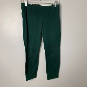 J. Crew Green Skinny Minnie Crop Pants